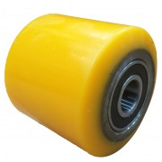 85mmx75mm Polyurethane Tyre Pallet Roller With Bearing, 750kg