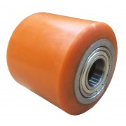 85mmx80mm Polyurethane Tyre Pallet Roller With Bearing, 700kg
