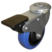 100mm Swivel Castor with Brake (BH), Rubber Tyre wheel, Ball Bearing, 150kg