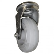 100mm Swivel Castor (BH), Rubber Tyre wheel, Roller Bearing, 85kg
