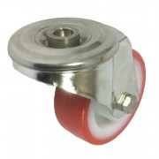 80mm Stainless Steel Swivel Castor (BH), Polyurethane Tyre wheel, Roller Bearing, 120kg