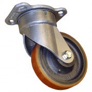 100mm Swivel Castor (Plate), Polyurethane Tyre wheel, Ball Bearing, 340kg