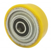 100mm Polyurethane Tyre / Cast Iron Centre Wheel, 20mm Ball bearing, 300kg