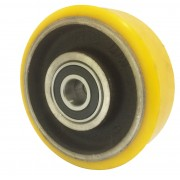 125mm Polyurethane Tyre / Cast Iron Centre Wheel, 20mm Ball bearing, 400kg