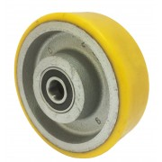 150mm Polyurethane Tyre / Cast Iron Centre Wheel, 20mm Ball bearing, 650kg