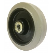 200mm Grey Rubber Tyre / Nylon Centre Wheel, 20mm Ball bearing, 450kg