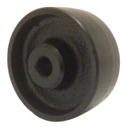 75mm Cast Iron Wheel, 12mm Plain Bore, 170kg