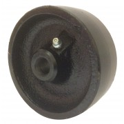 100mm Cast Iron Wheel, 15mm Plain Bore, 450kg