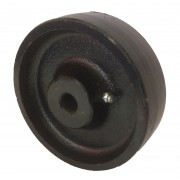 125mm Cast Iron Wheel, 15mm Plain Bore, 600kg