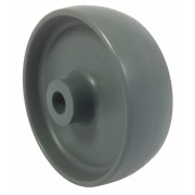 100mm Grey Polypropylene Wheel, 12mm Plain Bore, 125kg