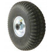 260mm Pneumatic Tyre (Zig-Zag Tread) / Metal Centre Wheel, 20mm Roller Bearing, 150kg