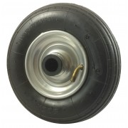200mm Pneumatic Tyre / Metal Centre Wheel, 20mm Roller Bearing, 75kg