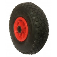 260mm Pneumatic Tyre / Red Polypropylene Centre Wheel, 20mm Roller Bearing, 136kg
