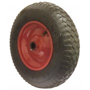 400mm Pneumatic Tyre / Metal Centre Wheel, 25mm Roller Bearing, 136kg