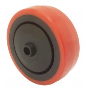 80mm Polyurethane Tyre / Nylon Centre Wheel, 8mm Ball Journal, 100kg