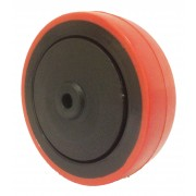 100mm Polyurethane Tyre / Nylon Centre Wheel, 8mm Ball bearing, 125kg