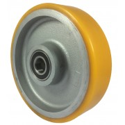 200mm Polyurethane Tyre / Cast Iron Centre Wheel, 25mm Ball bearing, 1100kg