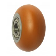100mm Polyurethane Tyre / Cast Iron Centre Wheel, 20mm Ball bearing, 350kg