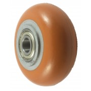 125mm Polyurethane Tyre / Cast Iron Centre Wheel, 20mm Ball bearing, 450kg