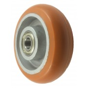 150mm Polyurethane Tyre / Cast Iron Centre Wheel, 20mm Ball bearing, 550kg