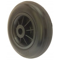 200mm Puncture Proof Tyre / Black Polypropylene Centre Wheel, 20mm Roller Bearing, 100kg