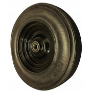 400mm Keystone Rubber Tyre Wheel, 25.4mm Ball Bearing, 500kg