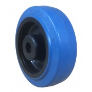 100mm Blue Rubber Tyre / Nylon Centre Wheel, 12mm Roller Bearing, 200kg