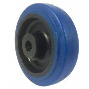 125mm Rubber Tyre / Nylon Centre Wheel, 15mm Roller Bearing, 250kg