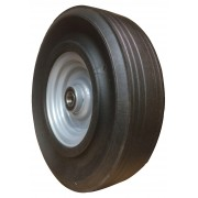 450mm Black Rubber Tyre / Metal Centre Wheel, 30mm Ball bearing, 1100kg