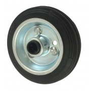 100mm Black Rubber Tyre / Metal Centre Centre Wheel, 12mm Roller Bearing, 70kg