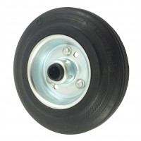 125mm Black Rubber Tyre / Metal Centre Centre Wheel, 12mm Roller Bearing, 100kg