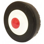 150mm Black Solid Rubber Tyre / Polypropylene Centre Wheel, 12mm Plain Bore, 50kg
