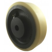 250mm Polyurethane Tyre / Cast Iron Wheel, 30mm Plain Bore, 2000kg