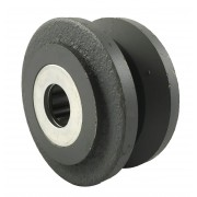 75mm 205kg V-Groove Cast Iron Wheel