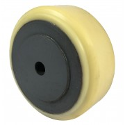 100mm Polyurethane Tyre / Cast Iron Wheel, 12mm Plain Bore, 500kg