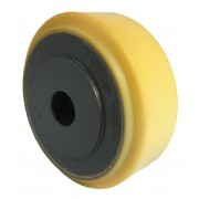 100mm Polyurethane Tyre / Cast Iron Wheel, 20mm Plain Bore, 500kg