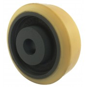 125mm Polyurethane Tyre / Cast Iron Wheel, 25mm Plain Bore, 600kg
