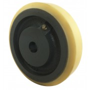 150mm Polyurethane Tyre / Cast Iron Wheel, 20mm Plain Bore, 700kg
