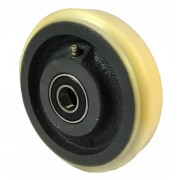 150mm Polyurethane Tyre / Cast Iron Wheel, 25mm Ball Bearing, 900kg