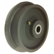 150mm Single Flange Cast Iron Wheel with Roller Bearing. Load Capacity = 1000kg