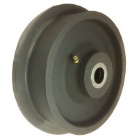 150mm Single Flange Cast Iron Wheel with 20mm Roller Bearing. Load Capacity = 1000kg