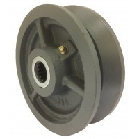 150mm V Grooved Cast Iron Wheel, 25mm Roller Bearing, 1000kg