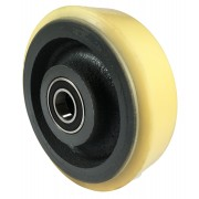 200mm Polyurethane Tyre / Cast Iron Wheel, 30mm Ball Bearing, 1300kg