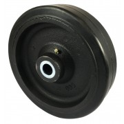 150mm Rubber Tyre / Cast Iron Centre Wheel, 20mm Roller Bearing, 370kg