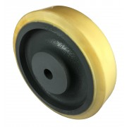 300mm Polyurethane Tyre / Cast Iron Wheel, 30mm Plain Bore, 2800kg