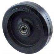 300mm Rubber Tyre / Cast Iron Centre Wheel, 25mm Ball Bearing, 680kg
