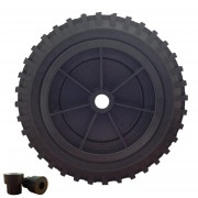 330mm Rubber tyre / Polypropylene Centre Wheelbarrow Wheel, 25.4mm / 13mm Plain Bore , 250kg