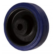 125mm Rubber Tyre / Nylon Centre Wheel, 15mm Plain Bore, 180kg