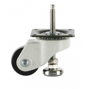50mm Swivel Castor Heavy Duty with M10x56L Adjustable Foot, 150kg Load Rating