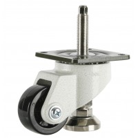 63mm Swivel Castor Extra Heavy Duty with M10x60L Adjustable Foot, 500kg Load Rating